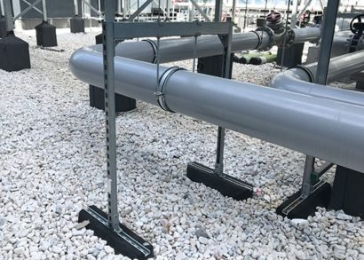 Heavy pipe support system for rooftops